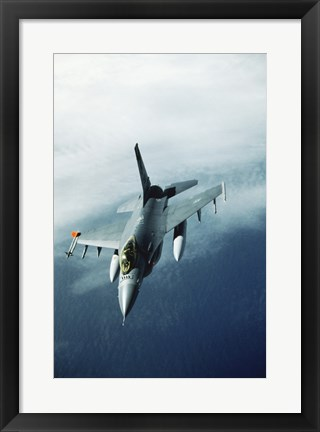 Framed General Dynamics F-16 Falcon Jet Fighter Print
