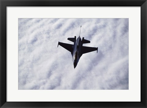 Framed U.S. Air Force F-16 in the air Print
