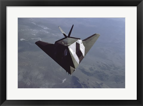 Framed US Air Force F-117 Stealth Figher Print