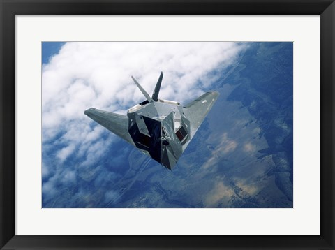 Framed F-117A Stealth Fighter Print