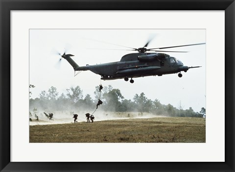 Framed MH-53H Multi-Mission Helicopter Print