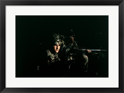 Framed Hahn AFB, Germany: Two Security Police Print