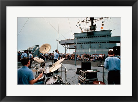 Framed Persian Gulf: A Band Plays For the USS Blue Ridge Print