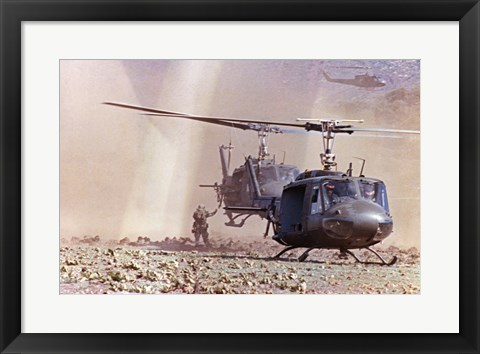 Framed UH-1A Iroquois Helicopters Print