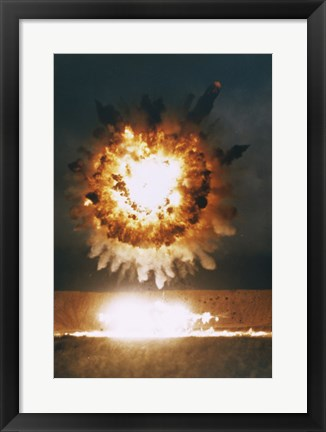 Framed San Clemente, CA The Explosion From A BGM-109 Tomahawk Missle Print