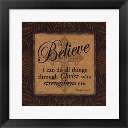Framed Believe Print