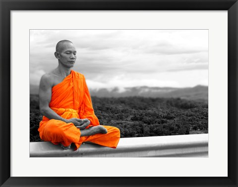 Framed Abbot of Watkun Meditating Print