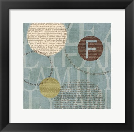 Framed Circle of Words - Family Print