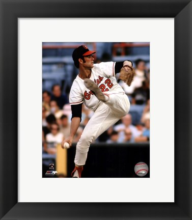 Framed Jim Palmer Action Print