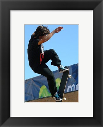 Framed Skateboarder On Blue Print