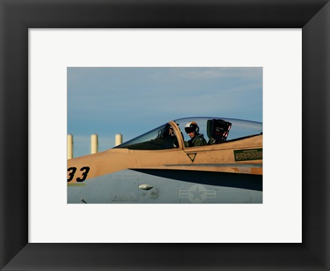 Framed US Navy Pilot Print