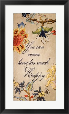 Framed Happy quote Print