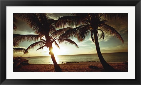 Framed Bimini Sunset Print