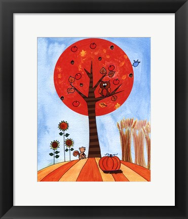 Framed Tree in Autumn Print