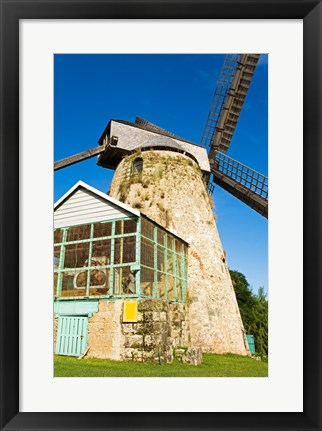Framed Traditional windmill at a sugar mill, Morgan Lewis Sugar Mill, Scotland District, Barbados Print