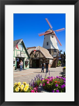 Framed Windmill on Alisal Road, Solvang, Santa Barbara County, Central California, USA Print