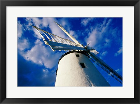 Framed Low angle view of a traditional windmill, Ballycopeland Windmill, Millisle, County Down, Northern Ireland Print
