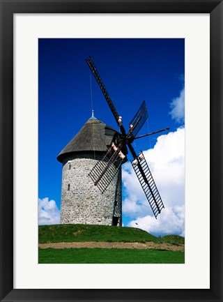 Framed Low angle view of a traditional windmill, Skerries Mills Museum, Skerries, County Dublin, Ireland Print