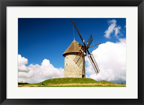Framed View of a traditional windmill, Skerries Mills Museum, Ireland Print
