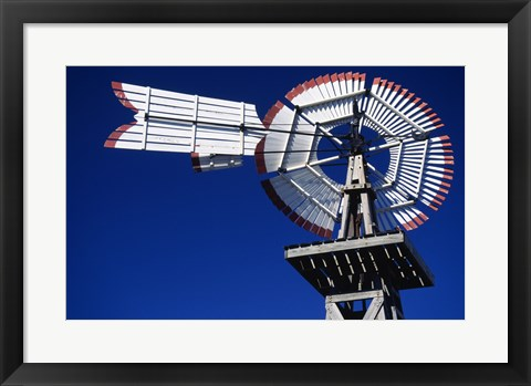 Framed USA, Texas, San Antonio, Tower of the Americas, close up of old windmill Print