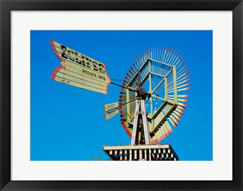 Framed Low angle view of an industrial windmill Print