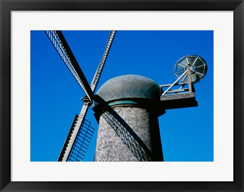 Framed Low angle view of a traditional windmill Print