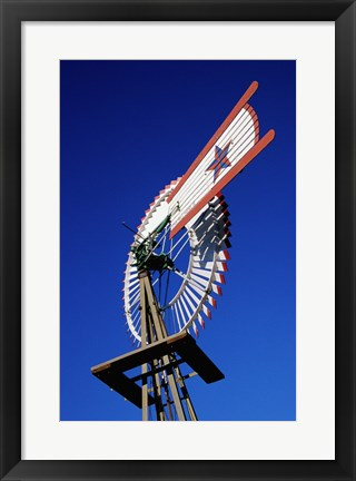 Framed Close view of a windmill at American Wind Power Center, Texas Print