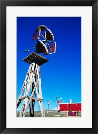 Framed American Wind Power Center, Lubbock, Texas, USA Print