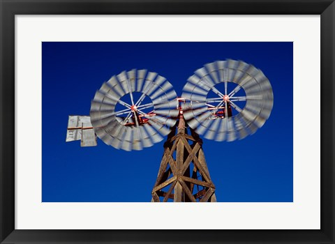 Framed Double Spiral Windmill in Texas Print