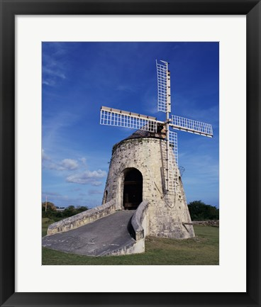 Framed Windmill at the Whim Plantation Museum, Frederiksted, St. Croix Vertical Print