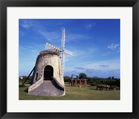 Framed Windmill at the Whim Plantation Museum, Frederiksted, St. Croix Print