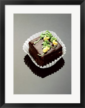 Framed Close-up of a chocolate cake Print
