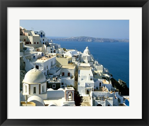 Framed Skyline in Cyclades Islands, Greece Print