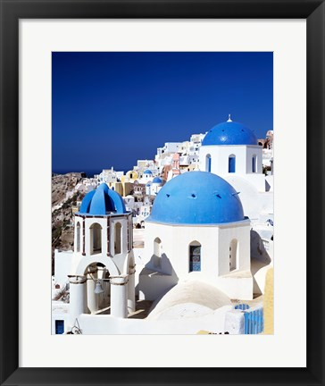 Framed Santorini, Oia , Cyclades Islands, Greece Print