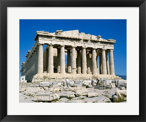 Framed Parthenon, Acropolis, Athens, Greece Print