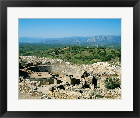 Framed Royal Tombs Grave Circle, Mycenae, Greece Print