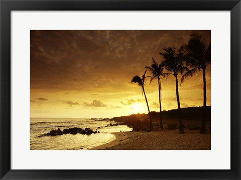 Framed Kauai Hawaii USA at Sunset Print