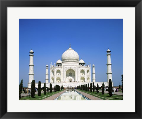 Framed Facade of the Taj Mahal, Agra, Uttar Pradesh, India Print