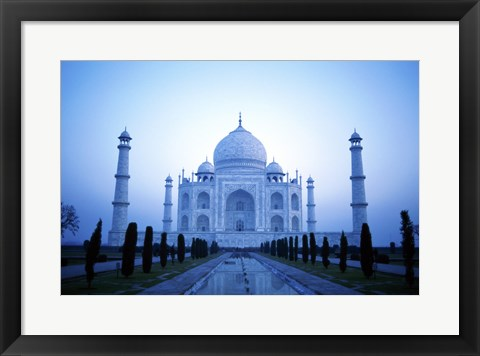 Framed Facade of the Taj Mahal, India Print