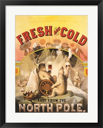 Framed North Pole Lager Print