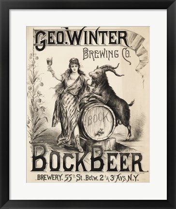 Framed Bock Beer Brewing Company Print