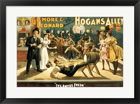 Framed Hogan's Alley Beer Print