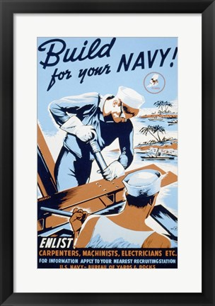 Framed Build for your Navy! Print