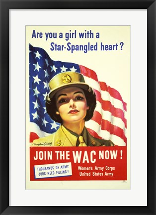 Framed Women's Army Corps Print