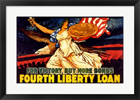 Framed Fourth Liberty Loan Print