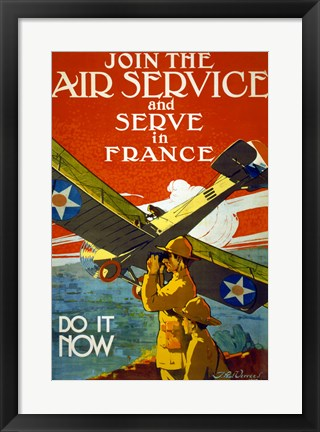 Framed Join the Air Service Print