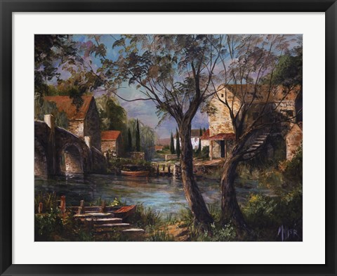 Framed Mill Bridge Print