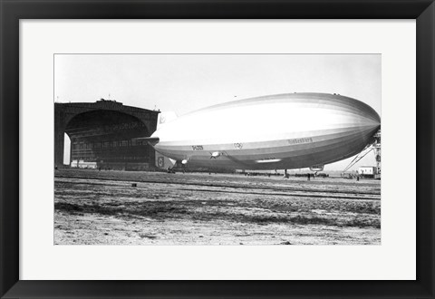 Framed USA, New Jersey, Hindenberg, Airship on a landscape Print