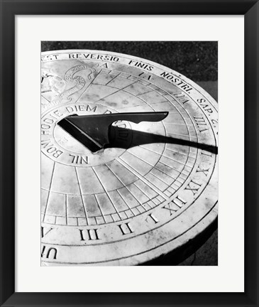 Framed Close up of sundial Print