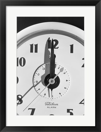Framed Face clock showing 12 o'clock, close-up Print